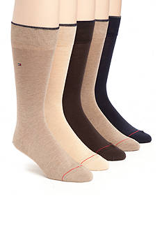 Tommy Hilfiger Flat Knit Comfort Blend Socks - Five Pack