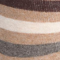 Mens Dress Socks: Camel/ Camel Heather Tommy Hilfiger Primary Stripe Crew Socks - 2 Pack