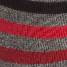 Mens Dress Socks: Charcoal Heather/ Black Tommy Hilfiger Primary Stripe Crew Socks - 2 Pack