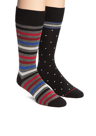 Tommy Hilfiger Primary Stripe Crew Socks - 2 Pack