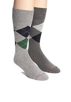 Tommy Hilfiger Argyle Crew Socks - 2 Pack