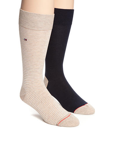 Tommy Hilfiger Color Stripe Crew Socks - 2 Pack