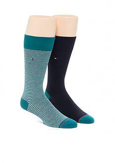 Tommy Hilfiger Color Stripe Crew Socks - 2 Pack