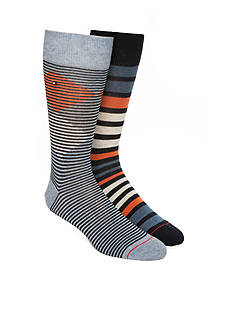 Tommy Hilfiger Diamond Stripe Socks- 2 Pack