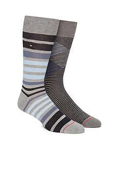 Tommy Hilfiger Diamond Stripe Socks- 2 Pack
