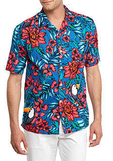 Saddlebred Big & Tall Short Sleeve Toucan Camp Shirt