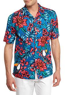 Saddlebred Short Sleeve Toucan Camp Shirt