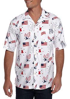 Saddlebred Short Sleeve Printed Camp Shirt