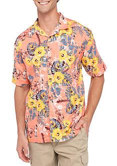 Saddlebred Short Sleeve Hibiscus Hula Camp Shirt
