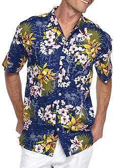 Saddlebred Short Sleeve Aloha Floral Camp Shirt