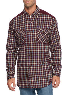 Saddlebred Flannel Shirt Jacket With Contrast Yoke