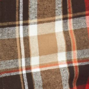 Men: Casual Shirts Sale: Khaki/Red Saddlebred Flannel Plaid Shirt Jacket