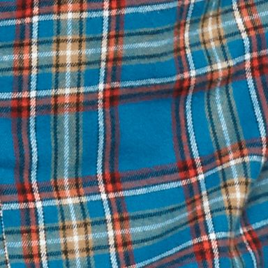 Men: Casual Shirts Sale: Teal Saddlebred Flannel Plaid Shirt Jacket