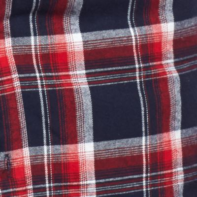 Men: Casual Shirts Sale: Blue/Red Saddlebred Flannel Plaid Shirt Jacket