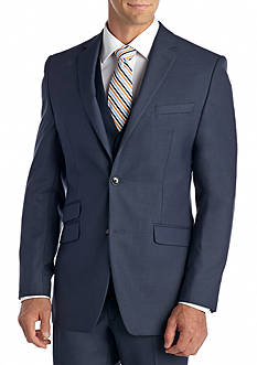 Perry Ellis Slim Fit Blue Shark Suit Separate Jacket