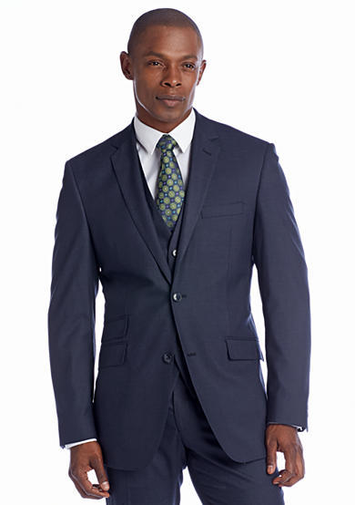 Perry Ellis® Classic Fit Grey Sharkskin Suit Separate Coat