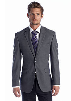 Perry Ellis® Portfolio Slim Fit Gray Solid Sharkskin Suit Separate Coat