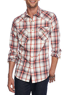 Red Camel Long Sleeve Western Plaid Shirt