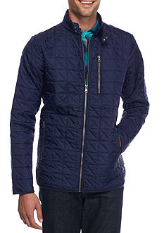 Red Camel Nylon Quilted Field Jacket