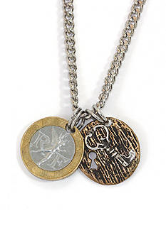 American Coin Treasures French Franc With Sterling Silver Lock and Key Men's Necklace