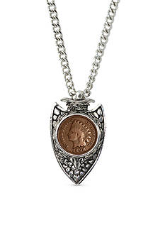 American Coin Treasures 1800's Indian Cent Arrowhead Men's Pendent
