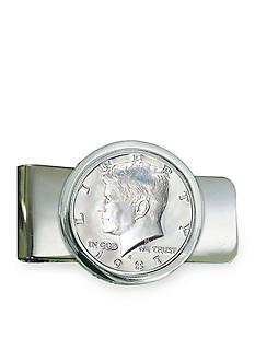 American Coin Treasures Proof JFK Half Dollar Silver Tone Money Clip