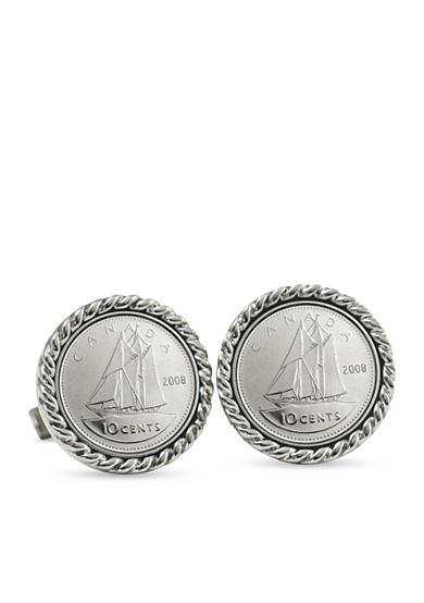 American Coin Treasures Canada Ship Coin Cufflinks