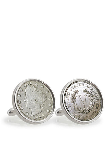 American Coin Treasures 1800's Liberty Nickel Sterling Silver Cufflinks
