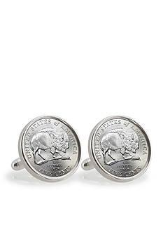 American Coin Treasures 2005 Bison Nickel Sterling Silver Cufflinks