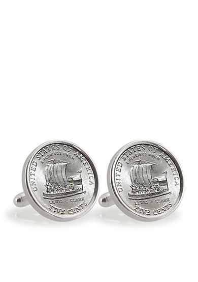 American Coin Treasures 2004 Keelboat Sterling Silver Cufflinks