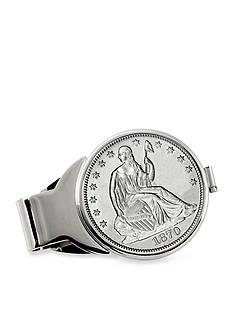 American Coin Treasures Silver Seated Liberty Half Dollar Silver-Tone Money Clip