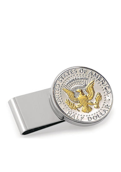 American Coin Treasures Selectively Gold-Layered Presidential Seal Half Dollar Money Clip