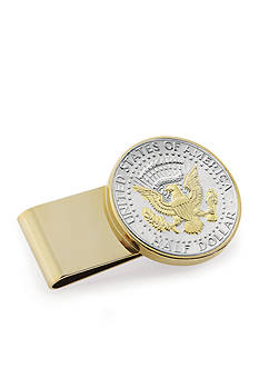 American Coin Treasures Selectivelty Gold-Layered Presidential Seal Half Dollar Money Clip