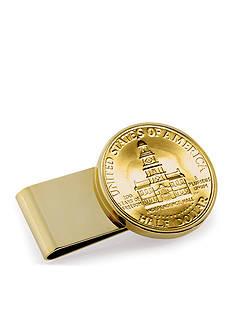 American Coin Treasures Gold-Layered JFK Bicentennial Half Dollar Money Clip