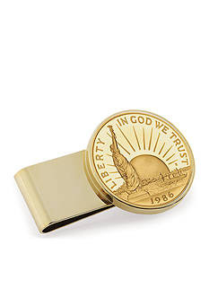 American Coin Treasures Gold-Layered Statue of Lliberty Commemorative Half Dollar Money Clip