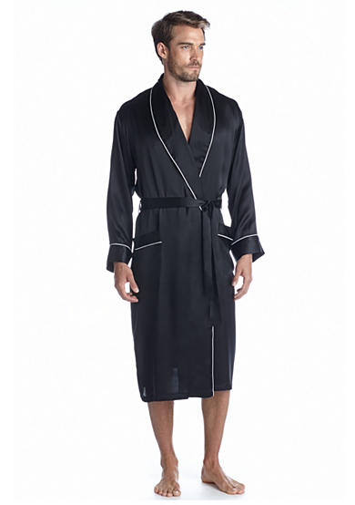 Geoffrey Beene Silk Shawl Collar Robe