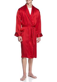 Geoffrey Beene Silk Shawl Collar Robe