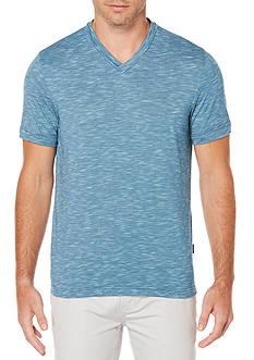 Perry Ellis Marled Slub V-Neck Shirt