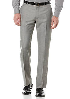Perry Ellis® Big & Tall Solid Texture Flat Front Suit Pants