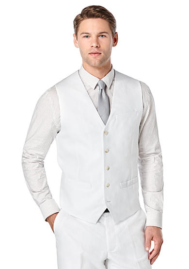 Perry Ellis® Big & Tall Linen Suit Vest