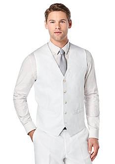 Perry Ellis Big & Tall Linen Suit Vest