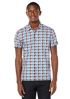 Perry Ellis® Big & Tall Multi Color Check Pattern Shirt