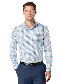 Perry Ellis® Big & Tall Check Plaid Pattern Shirt