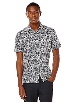 Perry Ellis® Big & Tall Short Sleeve Exclusive Flower Print Shirt