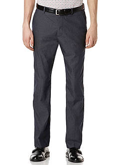 Perry Ellis® Flat-Front Twill Dress Pant