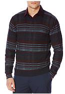 Perry Ellis® Long Sleeve Cotton Plaid Sweater