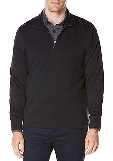 Perry Ellis Long Sleeve Ottoman Quarter Zip Pullover