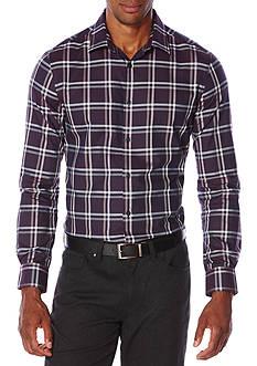 Perry Ellis Long Sleeve Double Check Shirt