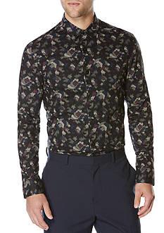 Perry Ellis Long Sleeve Slim Fit Camouflage Shirt