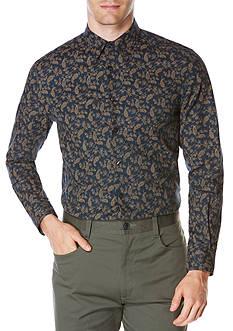 Perry Ellis Long Sleeve Paisley Print Shirt